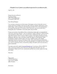 Cover Letter To Unknown Addressing A Cover Letter To Unknown Address