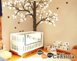 nursery tree wall stickers large corner tree decals nursery white tree wall stickers