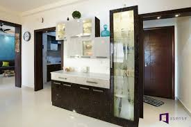 Crockery Unit Design Ideas Bakshis Appartment In Skylark Esta Hoodi Circle Asense