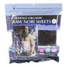 nori sheet izumi brand raw organic nori sheet 50 pack mineral rich raw
