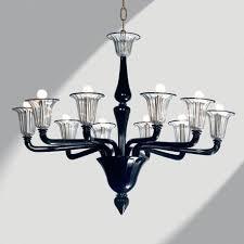 coco lights black glass chandelier modern