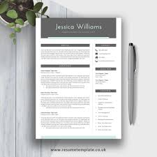 Modern Cv Template For 2019 Simple Resume Fully Editable Ms Word Resume 2 Page Resume Cover Letter And References For Digital Instant Download