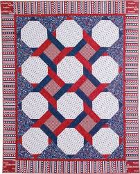 127 best Quilt Kits You'll Love images on Pinterest | Quilt ... & INTERTWINED QUILT KIT Patriotic lap quilt Designed by HEIDI PRIDEMORE  Fabrics: American Anthem by StudioE Adamdwight.com