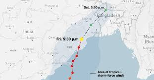 Typhoon Tracking Chart Live Tracking Map Cyclone Fani Batters India The New York