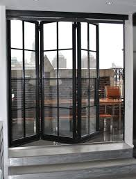 two section bi fold glass patio door