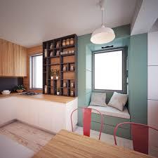 ... 40 Square Meters By Nikola Kungulovski. Tiny Kitchen With Window Seat