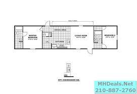 2 bed 2 bath new singlewide home clayton delight floorplan
