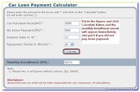 Car Loan Payment Calculator