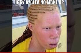 snoop posted the insram this weekend showing an albino looking woman with cornrow braids and the caption iggy azalea no make up