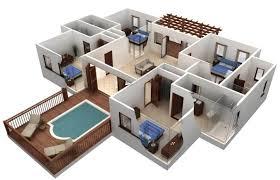 35 contoh gambar denah rumah minimalis 3 kamar tidur terbaru