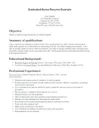 New Graduate Nursing Resume Examples Letter Resume Collection