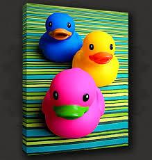 Funky Bathroom Funky Ducks Bathroom Canvas Print Poster Modern Design Many Sizes