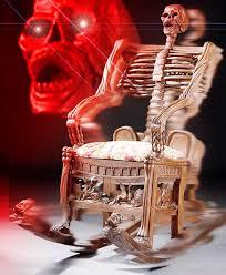 antique skeleton rocking chair edit