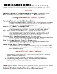 ... Confortable Performing Arts Resume Builder with Additional Performing  Arts Resume Generator Virtren ...
