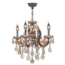roslyn traditional 4 light candle style chandelier crystal color amber