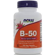 Комплекс витаминов для волос <b>B</b>-<b>50</b> NOW, <b>100</b> таблеток