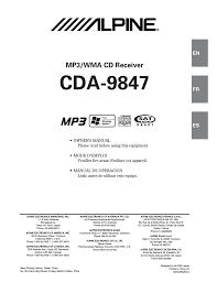 alpine cda 9847 cd player user manual manualzz com Alpine CDA 7873 at Alpine Cda 9847 Wiring Harness