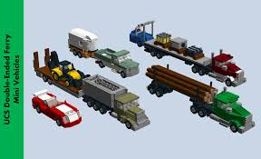 Tiny Trucks Lego Ideas Ucs Double Ended Ferry Loaded With Vehicles And