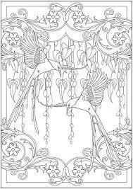 Art Nouveau Kleurplaat Coloring Adult Adult Coloring Pages