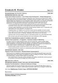 Resume For Software Engineer Best Resume Software Developer Example