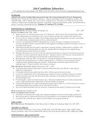 Chief Project Engineer Sample Resume Haadyaooverbayresort Com