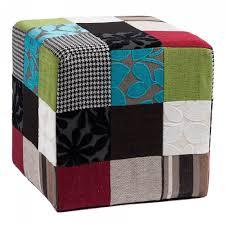 Пуфик квадратный разноцветный хлопковый 40 см Corsica ...
