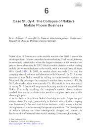 Nokia Organizational Chart 2018 Pdf Case Study 4 The Collapse Of Nokias Mobile Phone