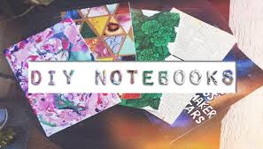 diy custom notebooks galaxy marbleised collage weaved notebooks covers you