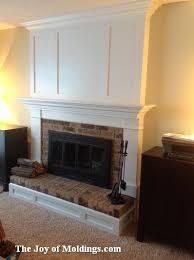 brick fireplace mantels. Tutorial - Fireplace Mantel Built Over A Brick Surround Fireplace. Mantels T