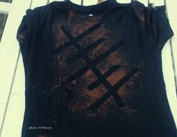 Black T Shirt Bleach Design Camp Craft Bleached Out T Shirts Brownie Meeting Ideas