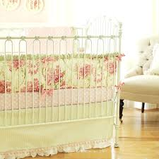 nursery bedding peach and gray swan crib bedding for a baby girl