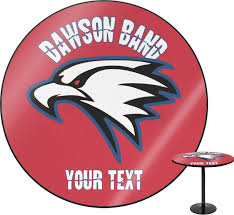dawson eagles band logo round table personalized