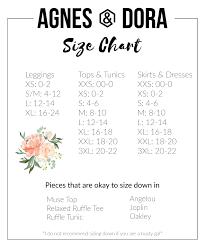 Agnes Dora By Katie Jo Independent Rep Size Chart Agnes