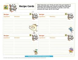 card recipe lets go luna recipe cards kids coloring pbs kids for