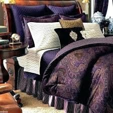 paisley duvet cover queen chaps bedding sets purple comforter by jewel tone ralph lauren si