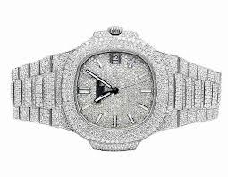 5 Pave 686907140270 Mens Diamond Ct Ebay Set 5711 Steel Watch Vvs 1a Philippe Patek 26 Nautilus