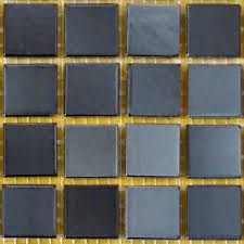 bellaterra home black 12 in x 12 in x 4 mm glass mosaic tile