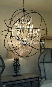 orbit chandelier restoration hardware orbit chandelier s iron orb crystal chandelier pertaining to with crystals plan