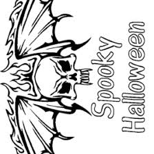 Small Picture Free Scary Halloween Coloring Pages sewwhatbagscom