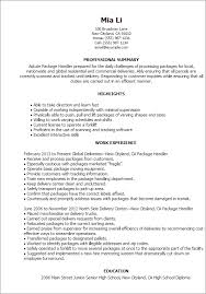 Material Handler Resume Examples Best Of Material Handler Resume Archtimes