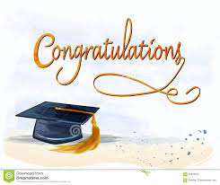 Congratulations For Graduation Graduation With Congratulations Text In Watercolors Stock