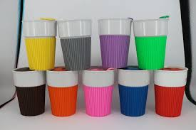 Ceramic Coffee Mugs With Silicone Sleeve