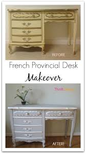 laminate furniture makeover. French Provincial Desk Makeover From Thrift Diving Laminate Furniture