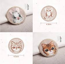 Rabbit Decorative Accessories Delicate Embroidery Panda Rabbit Kitty Children Cute Animal 94
