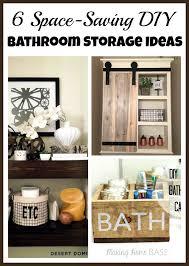 Best Bath Decor bathroom diy ideas : Space-Saving DIY Bathroom Storage Ideas