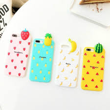 cartoon 3d fruits diy phone case for iphone 6 6s 6 7 7 plus 8 8 plus banana watermelon strawberry pineapple soft tpu back cover cell phone cases phone case