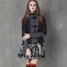 women jacket 2017 winter new ethnic wool blends coat stand collar handmade frog knot patchwork vintage retro coats women casaco