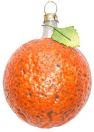 Schöne Orange Aus Glas Mit Blatt 6cm Weihnachtsbaumschmuck In Nostalgischer Form