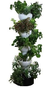 hydroponic garden tower. Beautiful Hydroponic Vertical Hydroponic Garden Tower  40 Total Planting Locations Towers  Include Both Antioxidant And UV Reduction Elements That Help Reduce Algae Formation In