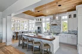 modern cottage kitchen design. Seagrass Bar Stools Modern Cottage Kitchen Design E